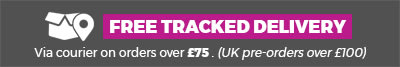 Free tracked delivery via courier on orders £75 and over