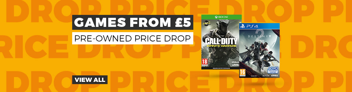 Pre-owned Price Drop from £4.99 - Buy Now at GAME.co.uk -  Homepage Banner