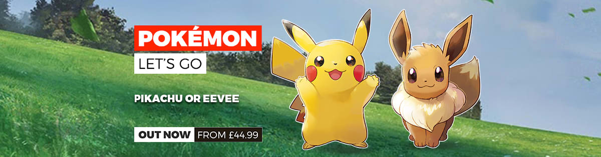 Pokemon Let's Go Pikachu or Eeevee out now!