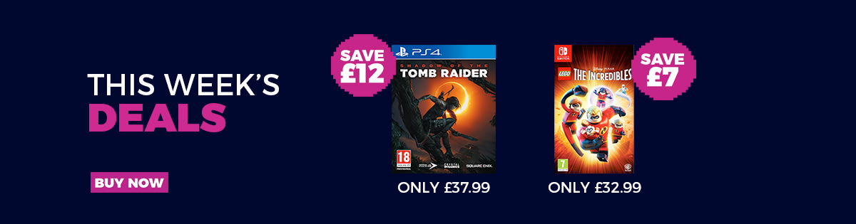 Our top offers, Shadow of the Tomb Raider and LEGO Incredibles
