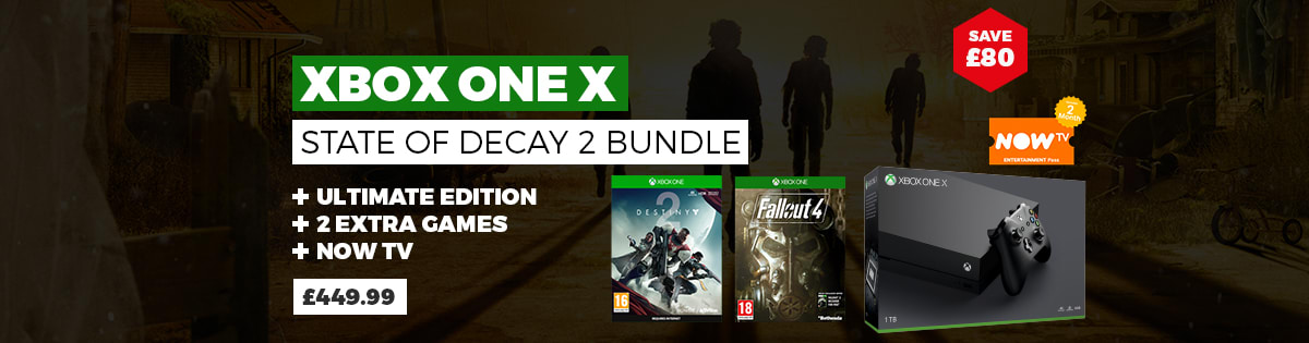 Xbox One X State of Decay Bundle with Fallout 4 plus Destiny 2 or Prey - £449.99 - Save £39.99