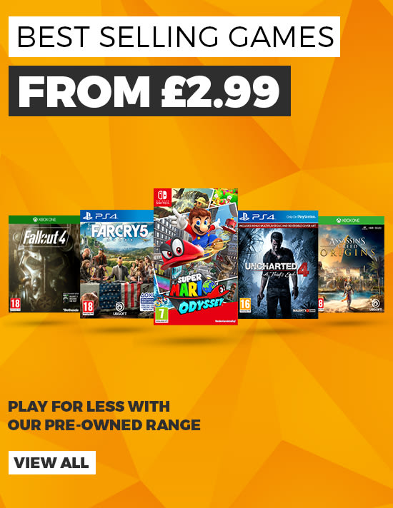 Get Best Selling Games for Less with Our Pre-owned Range - Buy Now at GAME.co.uk