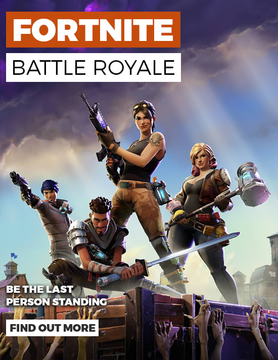 Fortnite Battle Royale - Be the Last Person Standing  -Find out More at GAME.co.uk