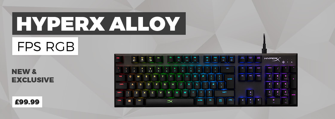 Hyper X Alloy FPS RGB Gaming Keyboard - Buy Now at GAME.co.uk
