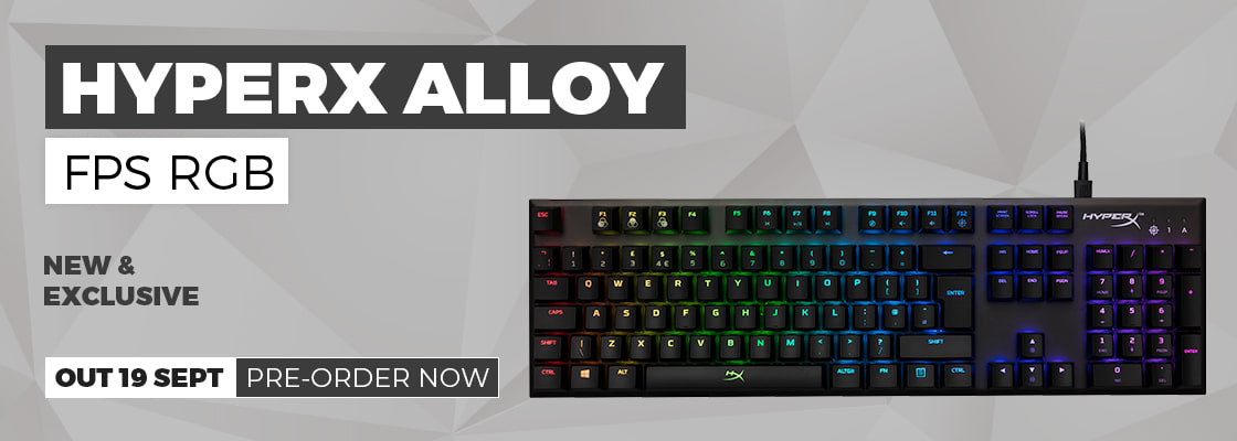 Hyper X Alloy FPS RGB Gaming Keyboard - Pre-order Now at GAME.co.uk
