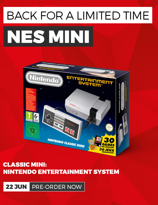 Nintendo Classic Mini - Back 29th June - Pre-order Now