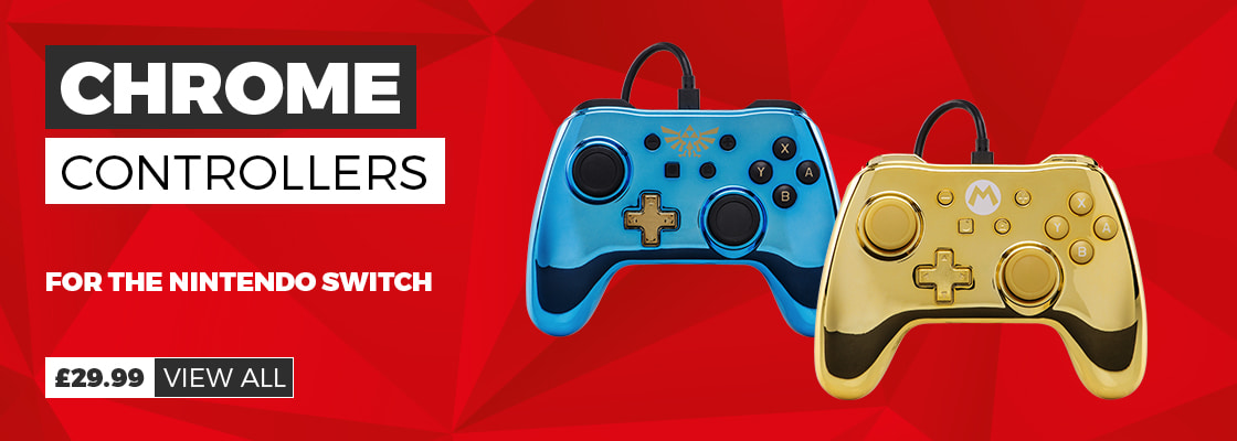Chrome Controllers from £29.99  - Preorder Now for Nintendo Switch