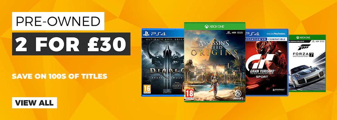 2 for £30 on Selected Pre-owned Games
