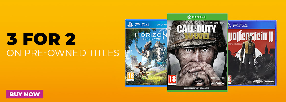 3 for 2 on Pre-owned games at GAME.co.uk
