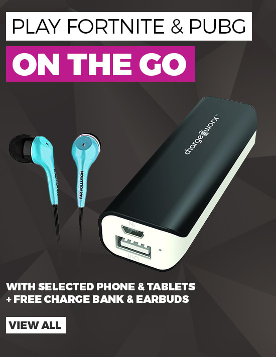 Play Fortnite on the go - Phones & Tablets with free powerbanks - Buy Now at GAME.co.uk
