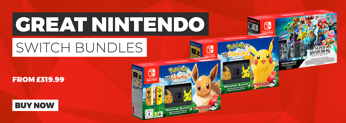 Pokémon Lets Go! and Super Smash Bros Nintendo Switch Consoles - Out Now