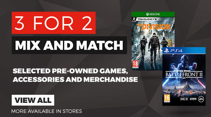 3 for 2 mix and match at GAME.co.uk