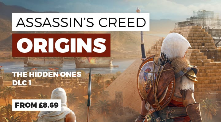 Assassin's Creed Origins: The Hidden Ones DLC Out 23rd Jan - Get the Season Pass now at GAME.co.uk
