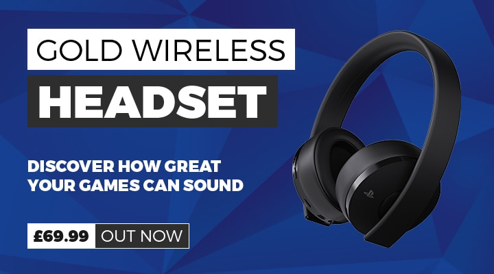 Gold Wireless PS4 Headset