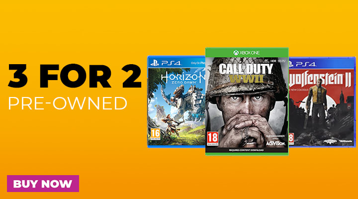 3 for 2 on Pre-Owned Games