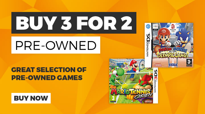 3 For 2 on Preowned Nintendo 3DS Games