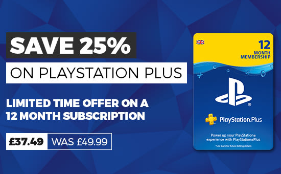 25% Off Playstation Plus 12 Month Subscription - Buy Now at GAME.co.uk