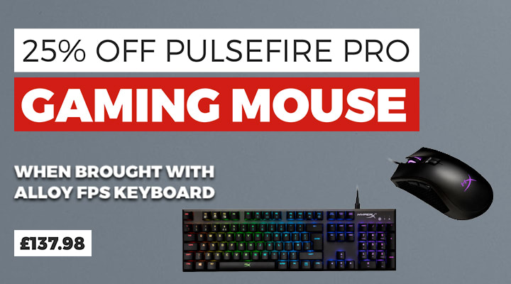 25% Off Pulsefire Pro Gaming Mouse - When Bought With Alloy FPS Keyboard