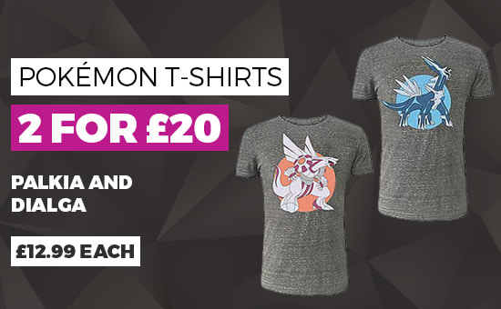 2 for £20 on Pokémon T-shirts - Buy Now at GAME.co.uk