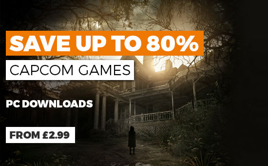 Capcom PC Download Sale - Buy Now GAME.co.uk - Homepage Banner