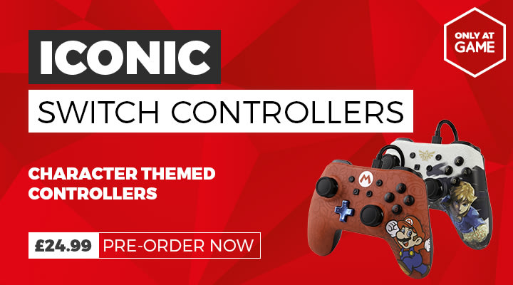 Iconic Controllers for Nintendo Switch