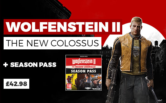 Wolfenstein II The New Colossus & Season Pass - Buy Now GAME.co.uk - Homepage Banner