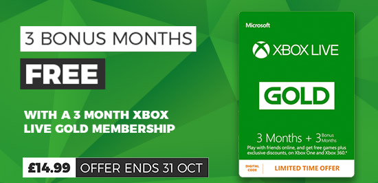 3 Month + 3 Month Xbox Live