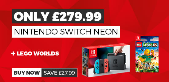 Nintendo Switch Neon with LEGO Worlds only £279.99
