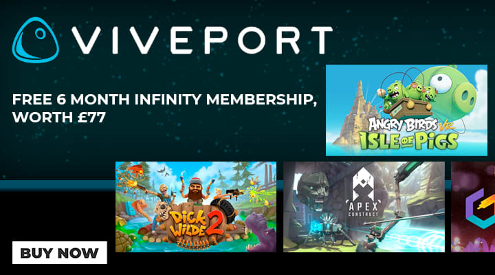 HTC Vive with Free 6 Month Viveport Subscription