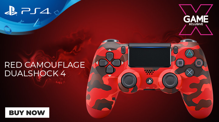 PlayStation 4 Red Camouflage Controller