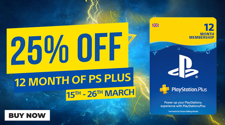 25% off 12 Months PlayStation Network