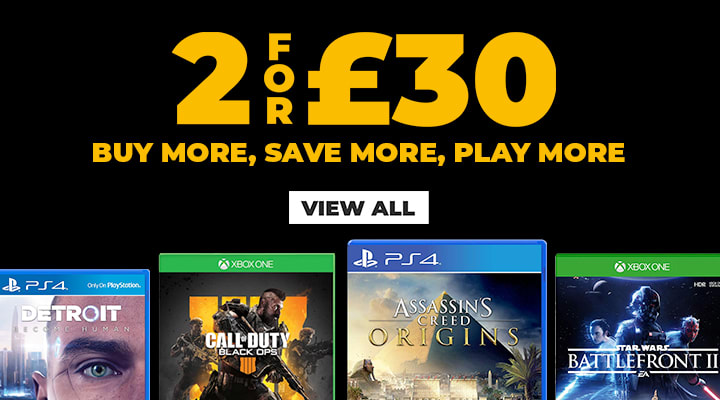 2 for £30 on Pre Owned Games