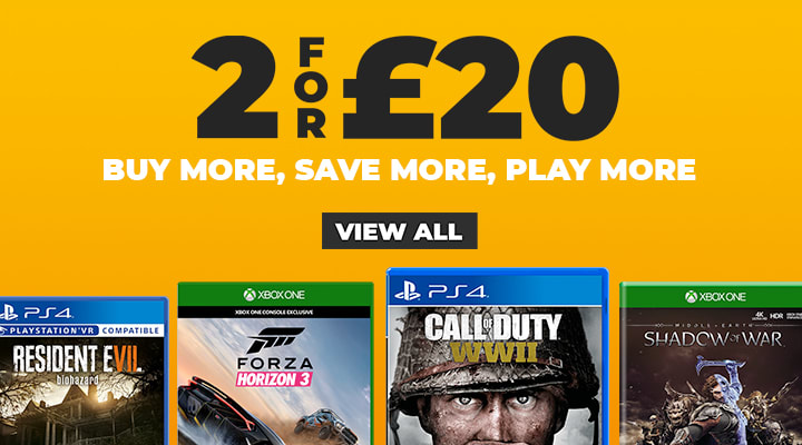 2 for £20 on Selected Pre-owned Games