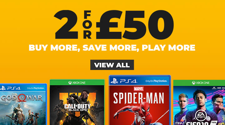 2 for £50 on Pre Owned Games