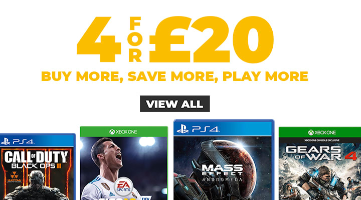 4 for £20 on Selected Pre-owned Games