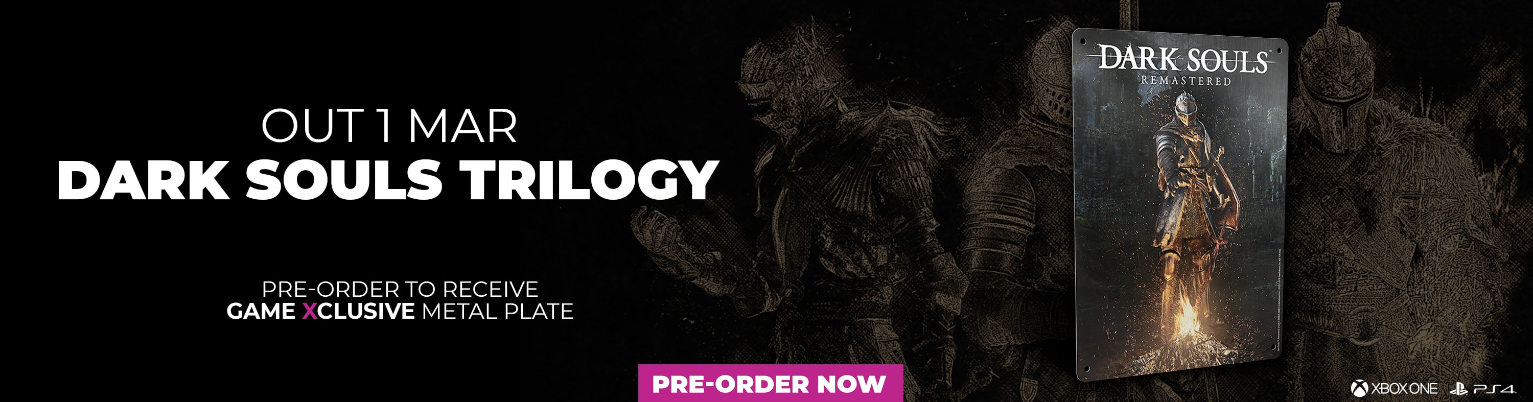 Dark Souls Trilogy - Pre-Order to Receive Game Exclusive Metal Plate