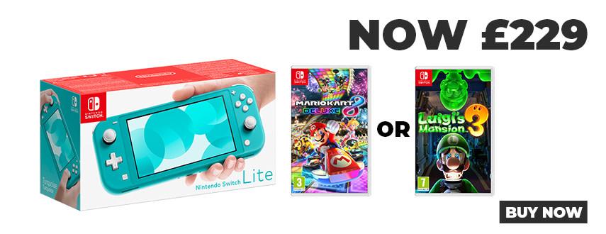 Switch Lite with Mario Kart 8 or Luigis Mansion 3