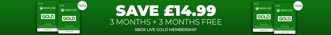 3 Plus 3 Months Xbox Live Membership - Save £14.99