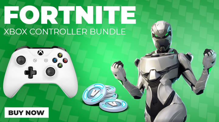 Xbox One White Controller Fortnite Bundle