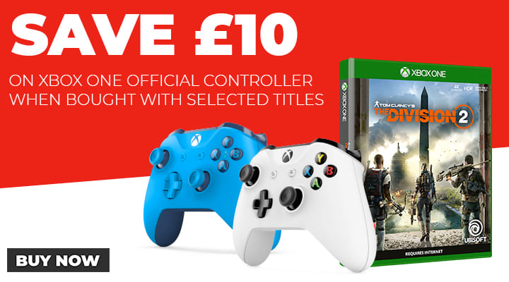 Save £10 on Xbox One Controllers when Brought with Selected Titles