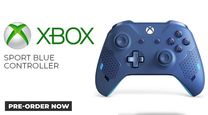 Xbox One Sports Blue Controller