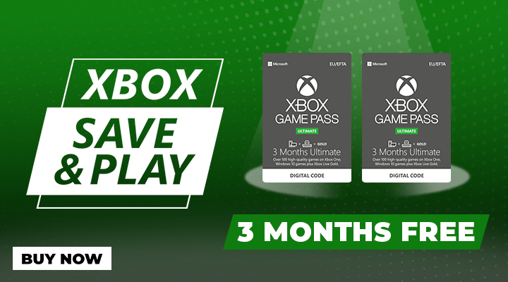 3 Months Xbox Game Pass Ultimate plus 3 Months Free
