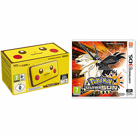 Nintendo 2DS XL Pikachu Edition Console with Pokemon Ultra Sun