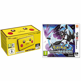Nintendo 2DS XL Pikachu Edition Console with Pokemon Ultra Moon