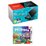 Nintendo 2DS XL Black + Turquoise plus 3DS Miitopia for 3DS