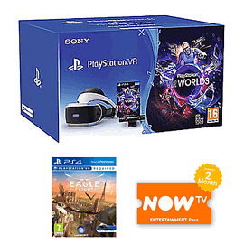 PlayStation VR Starter Pack + Eagle Flight + NOW TV