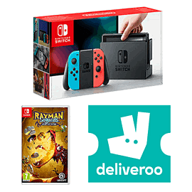 Nintendo Switch Neon with Rayman Legends + £5 Deliveroo Credit
