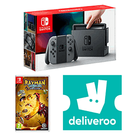 Nintendo Switch Grey with Rayman Legends + £5 Deliveroo Credit