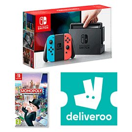 Nintendo Switch Neon with Monopoly + £5 Deliveroo Credit
