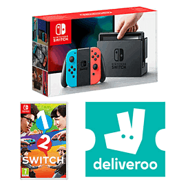 Nintendo Switch Neon with 1 2 Switch + £5 Deliveroo Credit